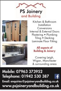 PS Joinery and Building advert lists the services the company provides