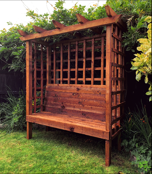 Arbour built by Rafter's Engineering